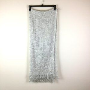 Merona Textured Boucle Knit Fringed Blanket Scarf